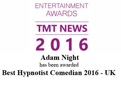 Best Hypnotist 2016 award